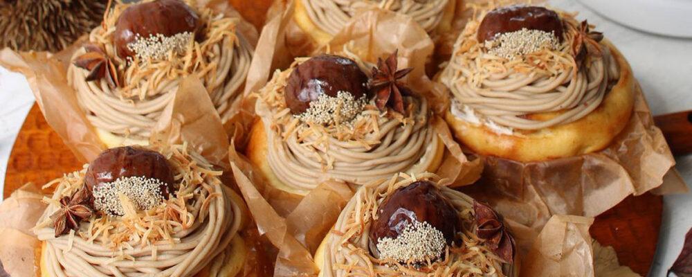 """ボッシュで作る""""ケーキみたいなブリオッシュモンブラン"""" by vivianさん<FBアーカイブ>"""