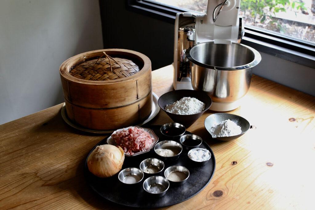 ボッシュ コンパクトキッチンマシンで作る肉まん(材料)