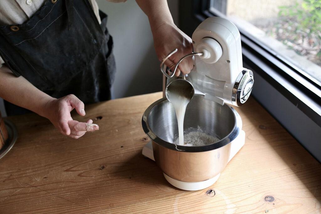 ボッシュ コンパクトキッチンマシンで作る肉まん(皮を作る)